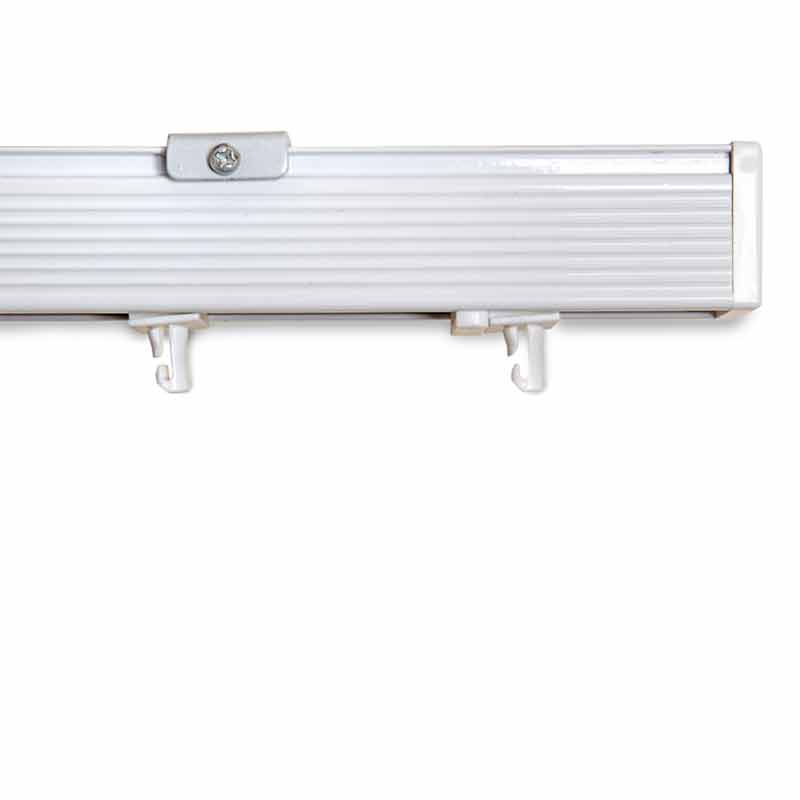 4. Slimeline aluminium headrail white finish